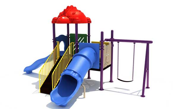 QTL-AL10038 outdoor playground with swing sets