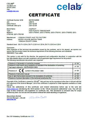 J20619 chairs CE certificate-2